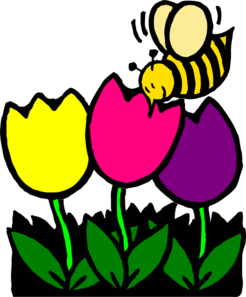 Busy clip art at. Bee clipart flower