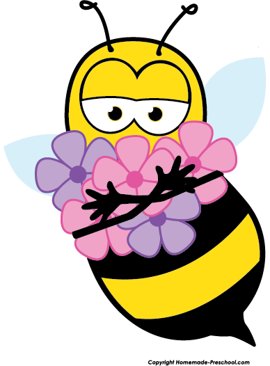 Pin by marina on. Bee clipart flower