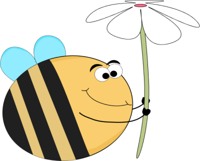 Bee clip art images. Bees clipart flower
