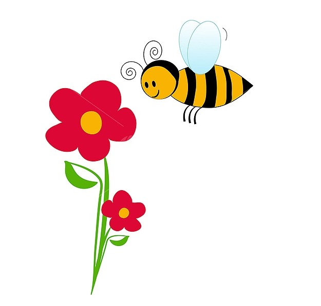 Bee clipart flower. Free cliparts download clip