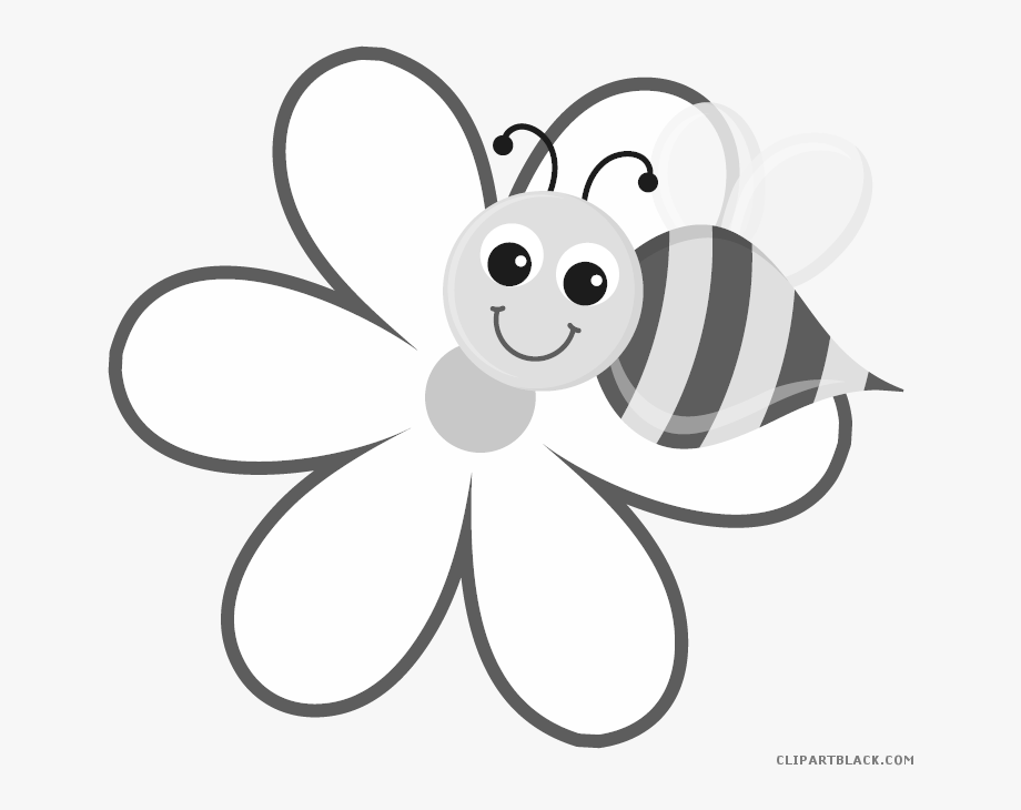 Busy cartoon with free. Bee clipart flower