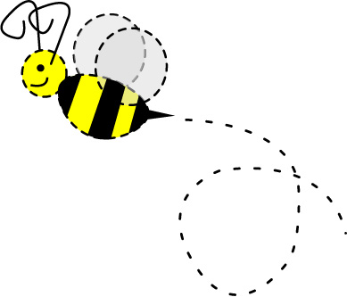 Free flying bee cliparts. Trail clipart cute