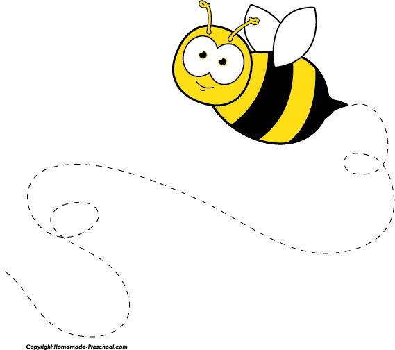 Flying Bee Free Clipart