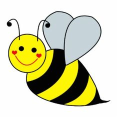 Very large yellow yes. Bee clipart flying