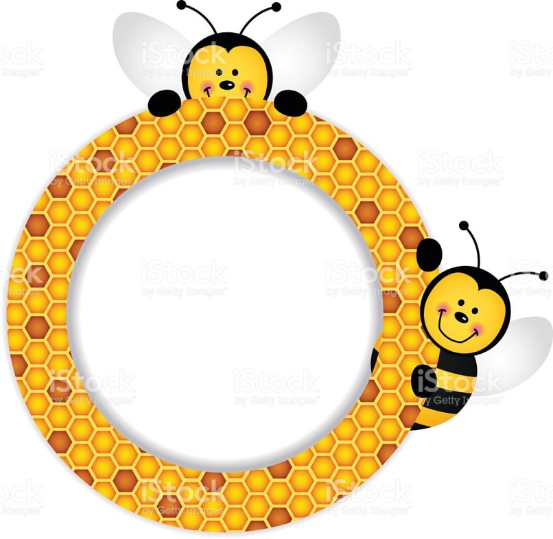 Bee clipart frame. Frameswalls org pencil and