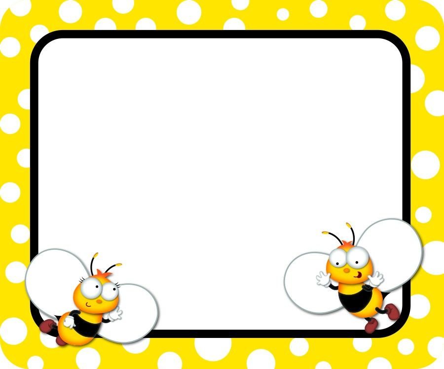 Buzz worthy name tags. Bees clipart frame