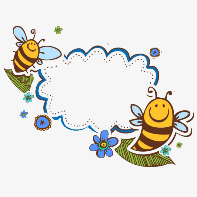 Writing box write png. Bee clipart frame