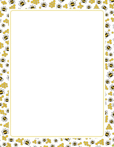 Bees clipart borders. Bumble bee border free