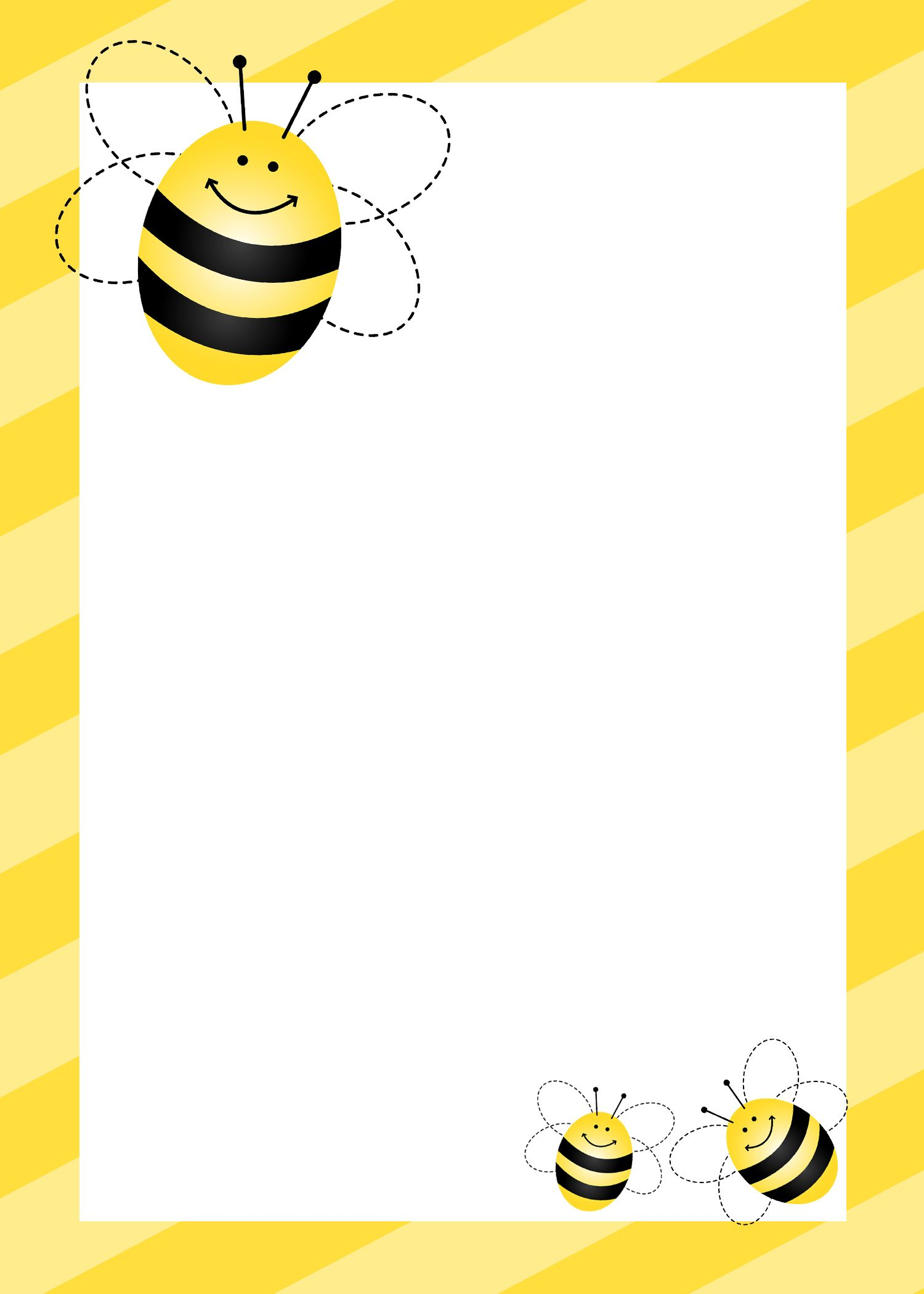 Bumblebee themed birthday party. Bee clipart frame