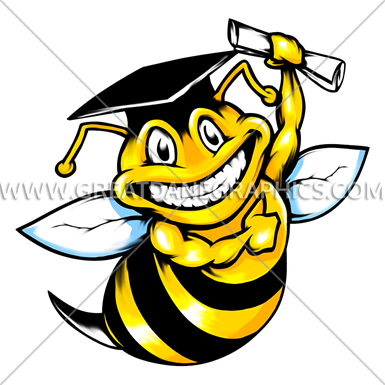 Bees clipart graduation. Bee production ready artwork