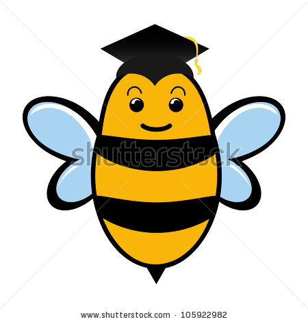 Bee pencil and in. Bees clipart graduation