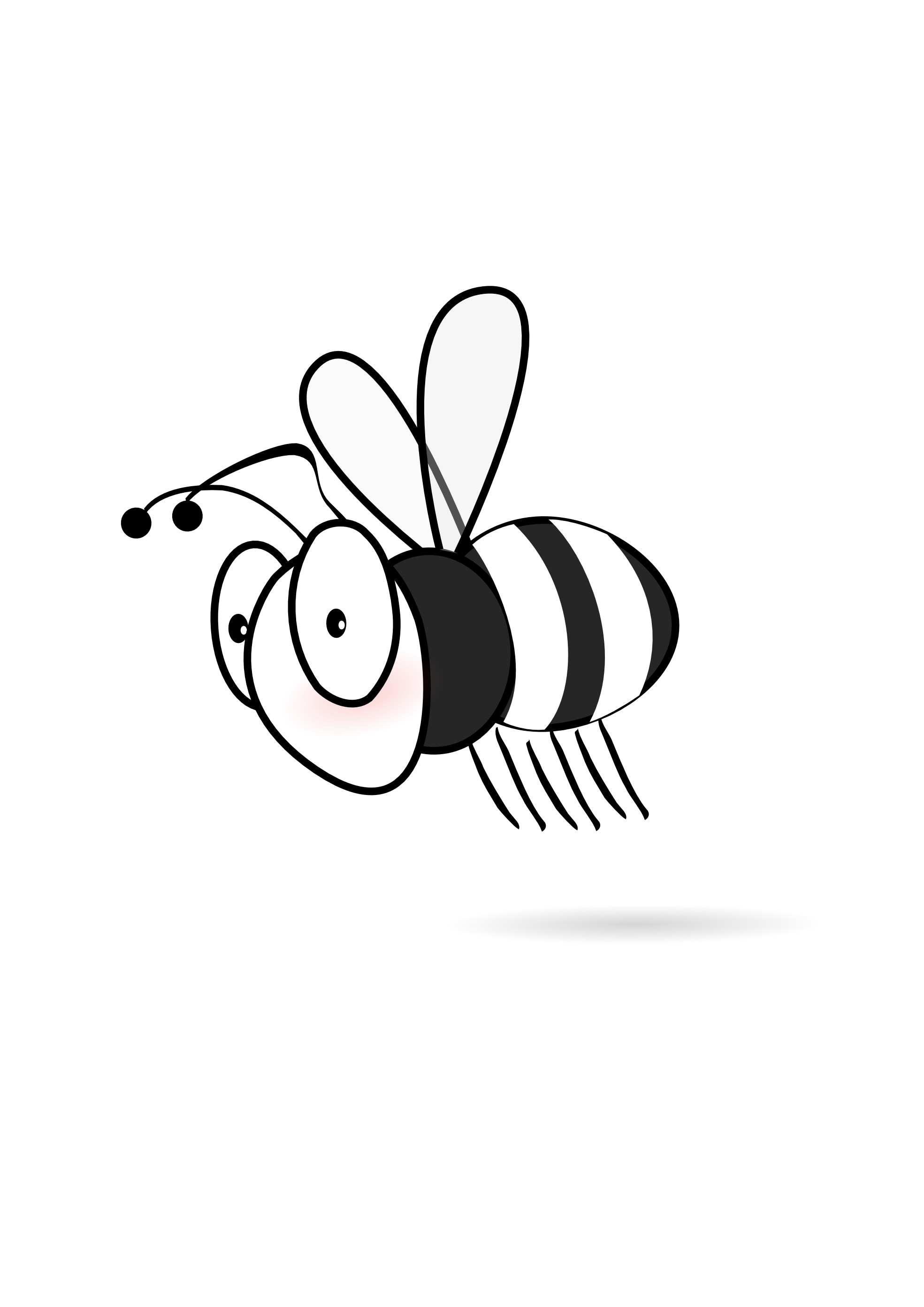 Bees clipart halloween. Bee black and white