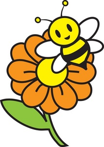 Free honey bee image. Bees clipart halloween