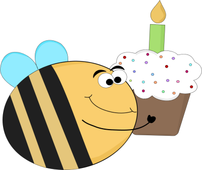 Clipart bee cupcake.  funny birthday clipartlook