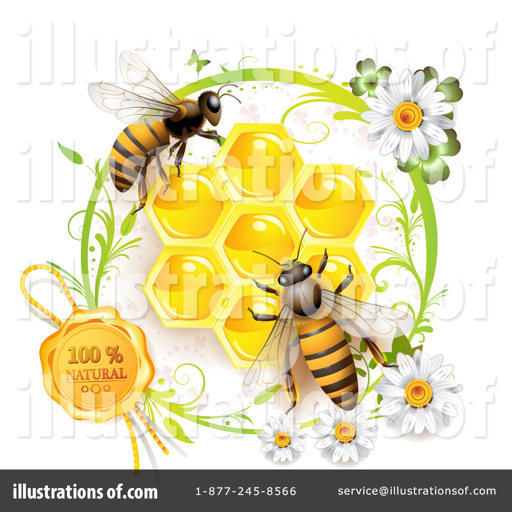 Bee clipart honey bee. Illustration by merlinul royaltyfree