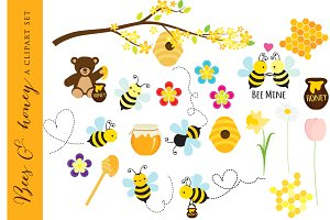 Bees clip art bear. Bee clipart honey bee
