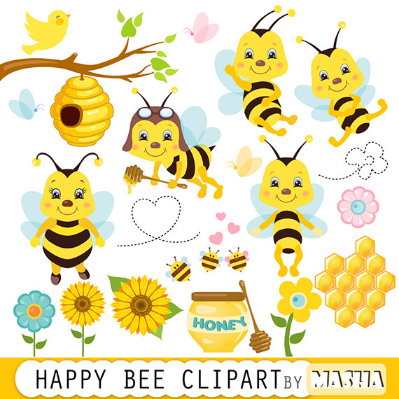 Bee clipart honey bee. Bees clip art bumble