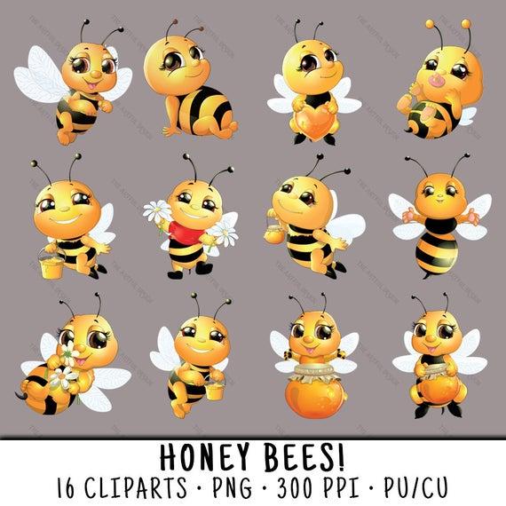 Honeybee clip art png. Bee clipart honey bee