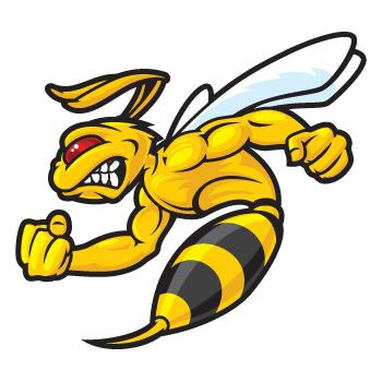 Bees clipart hornet. Details about angry bee