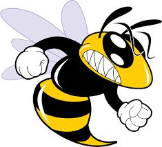 Angry bee cartoon board. Bees clipart hornet