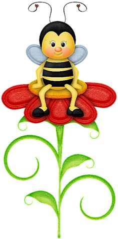 Clipart bee ladybug.  best abejas abejitas