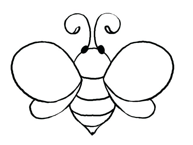 Bee clipart outline. Template incep imagine ex