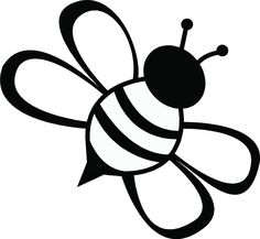 Image result for worker. Bee clipart outline