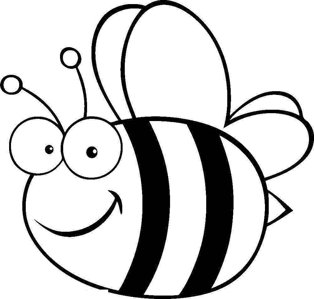 Honey bees inside free. Bee clipart outline