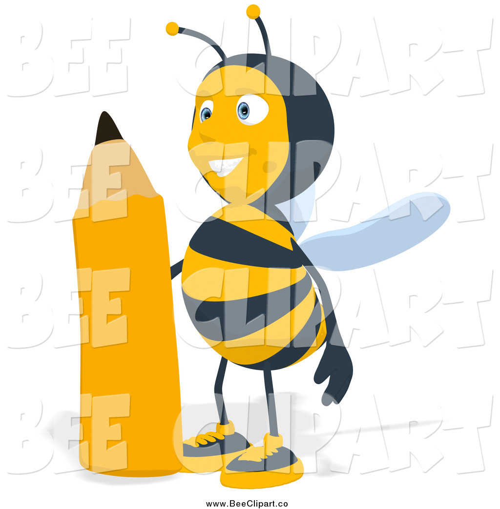 Bee clipart pencil. Pictures of a free