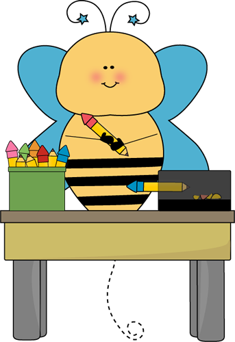 Bee Pencil Monitor Clip Art