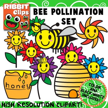 Bee clipart pollinator. Pollination by ribbit clips