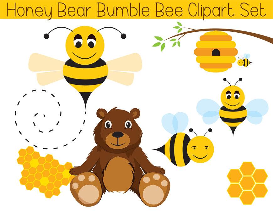 Bumble bear . Bee clipart printable