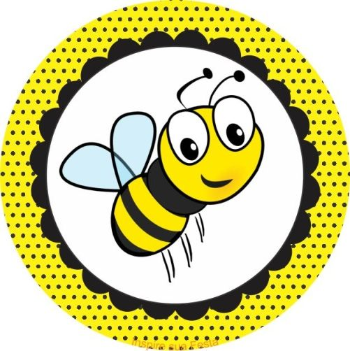 Bees clipart printable. Bee cupcake topper rosh