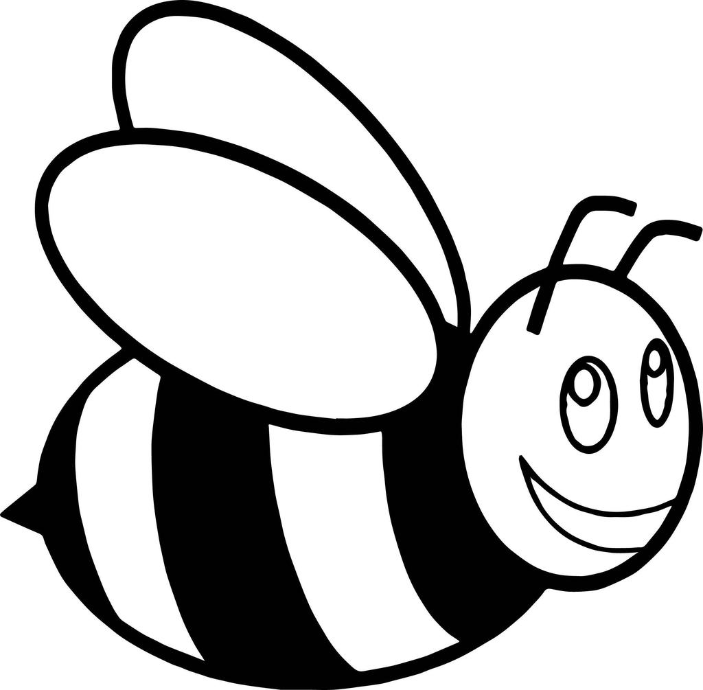 Honey cartoon for girls. Bee clipart printable