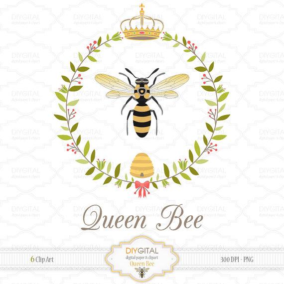 Queen bee clip art. Bees clipart printable
