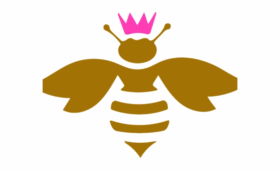 Clipart bee queen bee. Bees pdf svg free