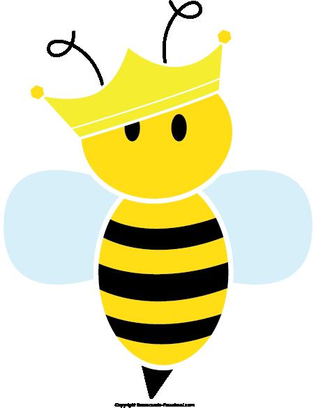 Beehive clipart cute. Queen bee