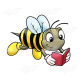 Reading Bee Clipart