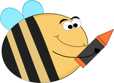 Bee clip art images. Bees clipart reading