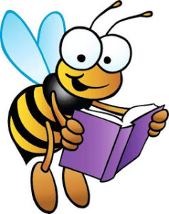 Bees clipart reading. Bee a book clipartuse