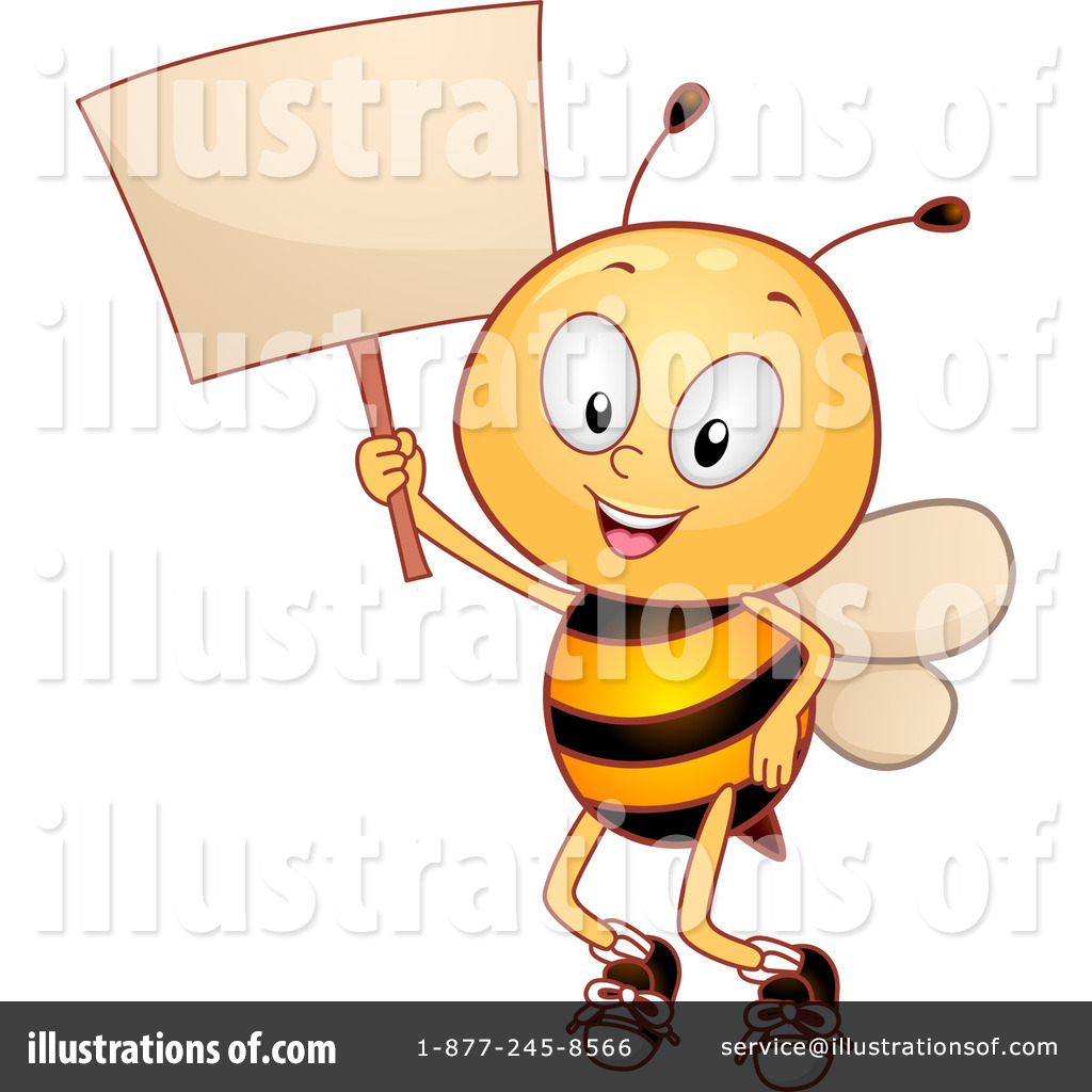 Bee illustration by bnp. Bees clipart signboard