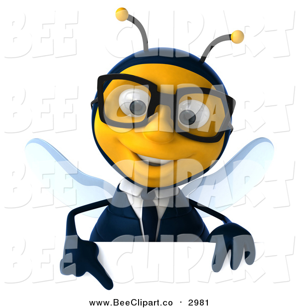 Clip art of a. Bee clipart signboard