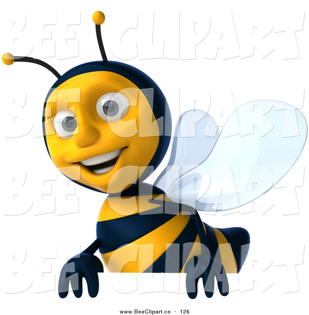 Bee clipart signboard. Clip art of a