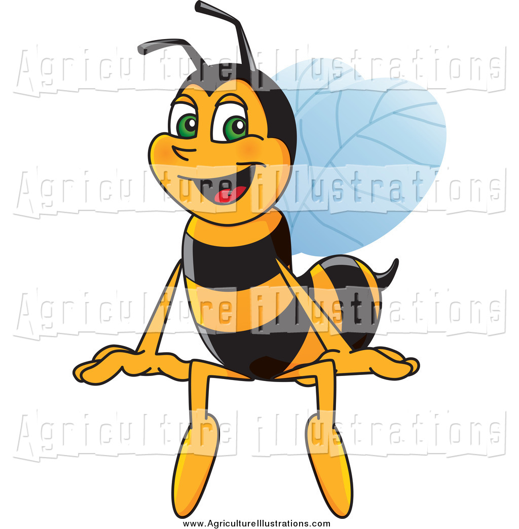 Bee clipart signboard. Agriculture of a worker