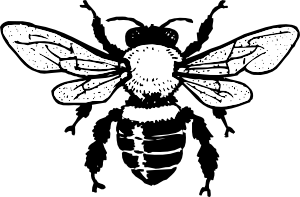 Honey clip art at. Bee clipart silhouette