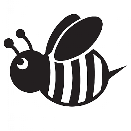 Bee clipart silhouette. Bumble stencil for glitter