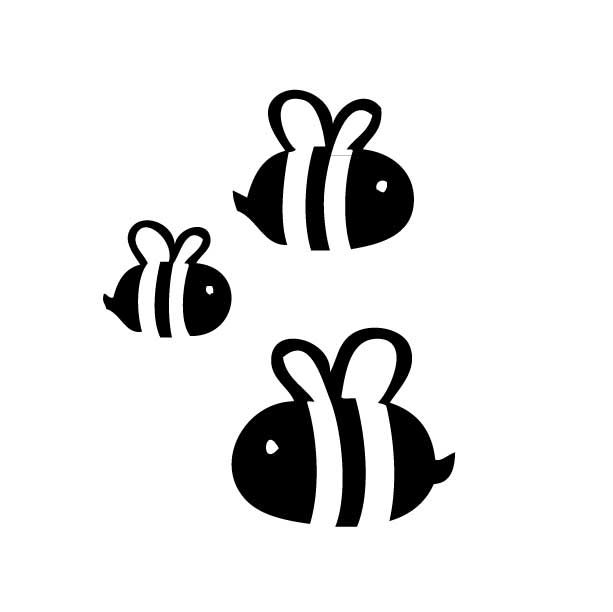 Google zoeken creations pinterest. Bee clipart silhouette
