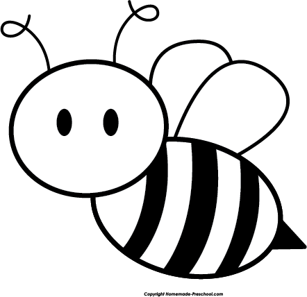 Bee clipart simple. Free click to save