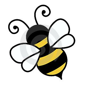 Free cute clip art. Bee clipart simple