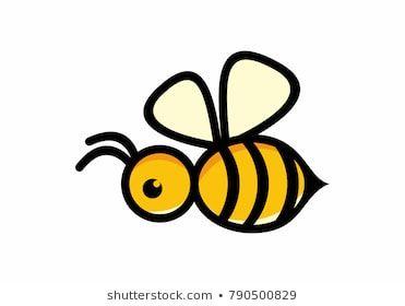 Vector symbol honey bee. Bees clipart simple